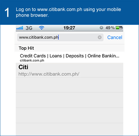 Citibank Account Online >> Citi Mobile Banking via Mobile Browser - Citibank Philippines
